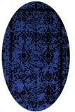 rug #1083498 | oval black rug