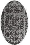 rug #1083514 | oval orange damask rug