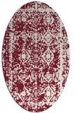 rug #1083522 | oval pink traditional rug