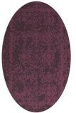 rug #1083534   oval purple faded rug
