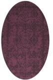 rug #1083535 | oval faded rug