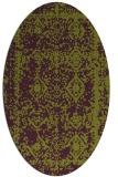 rug #1083538 | oval purple faded rug