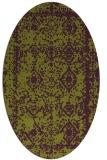 rug #1083539 | oval faded rug