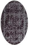 rug #1083546 | oval purple damask rug