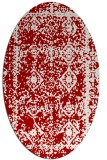 rug #1083550 | oval red damask rug