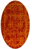 rug #1083554 | oval red damask rug