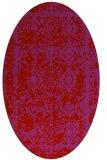 rug #1083562   oval red damask rug
