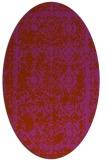 rug #1083564 | oval faded rug