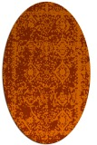 rug #1083566 | oval red-orange damask rug