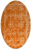 rug #1083570 | oval red-orange graphic rug