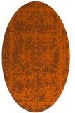 rug #1083574   oval red-orange faded rug