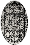 rug #1083586   oval white faded rug