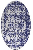 rug #1083594 | oval white faded rug