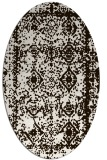 rug #1083598 | oval brown damask rug