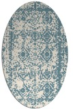 rug #1083606 | oval white faded rug