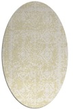 rug #1083618 | oval white faded rug