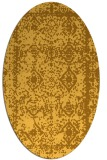 rug #1083626 | oval yellow faded rug