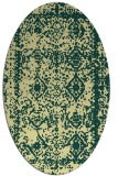 rug #1083630 | oval yellow rug