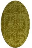 rug #1083634 | oval light-green faded rug