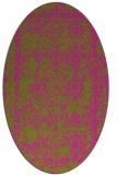rug #1083642   oval pink damask rug