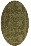 rug #1083646 | oval light-green graphic rug