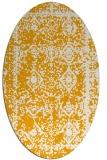 rug #1083650 | oval light-orange damask rug