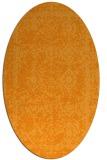 rug #1083658 | oval light-orange damask rug