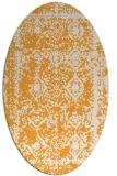 rug #1083662 | oval light-orange damask rug