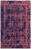rug #1083762 |  blue-violet damask rug