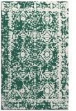 rug #1083802 |  blue-green damask rug