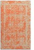 rug #1083878 |  orange damask rug