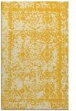 rug #1083982 |  yellow damask rug