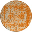 rug #1084034 | round orange damask rug
