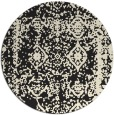 rug #1084058 | round black graphic rug