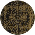 rug #1084062 | round mid-brown traditional rug
