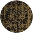 rug #1084062 | round mid-brown damask rug