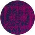 rug #1084070 | round blue faded rug