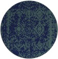 rug #1084074 | round blue-green graphic rug