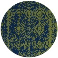 rug #1084078 | round blue traditional rug
