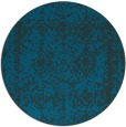 rug #1084102 | round blue faded rug