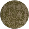 rug #1084150 | round brown damask rug