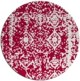 rug #1084154 | round red damask rug