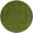rug #1084162 | round green graphic rug