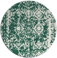 rug #1084170 | round blue-green graphic rug