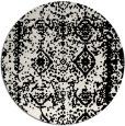 rug #1084178 | round black rug