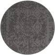 rug #1084186 | round brown damask rug