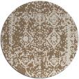 rug #1084190 | round mid-brown damask rug