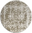 rug #1084194 | round white traditional rug