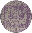 rug #1084218 | round purple traditional rug