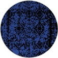 rug #1084234 | round black traditional rug